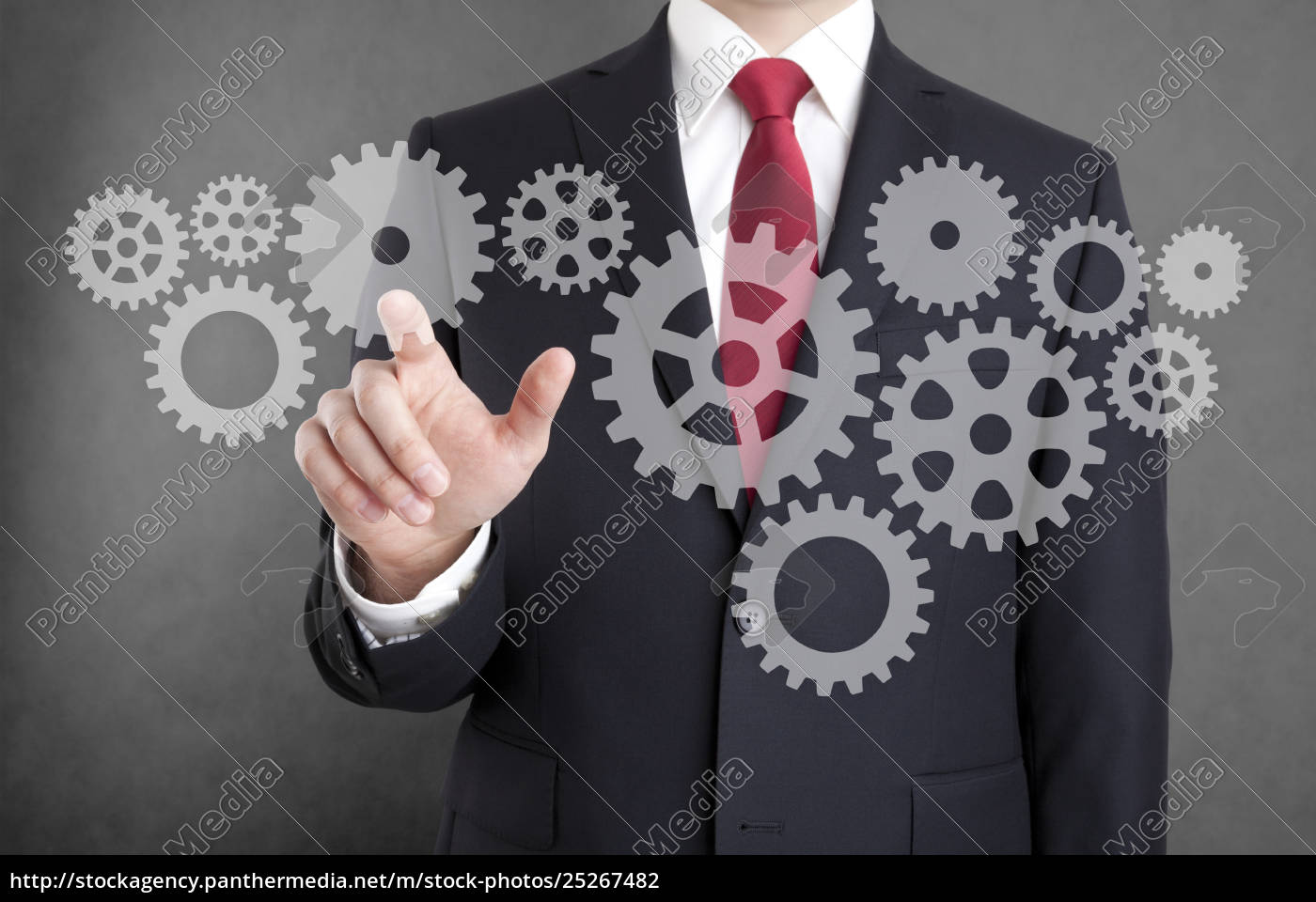 businessman, with, gears, , concept, of, well - 25267482