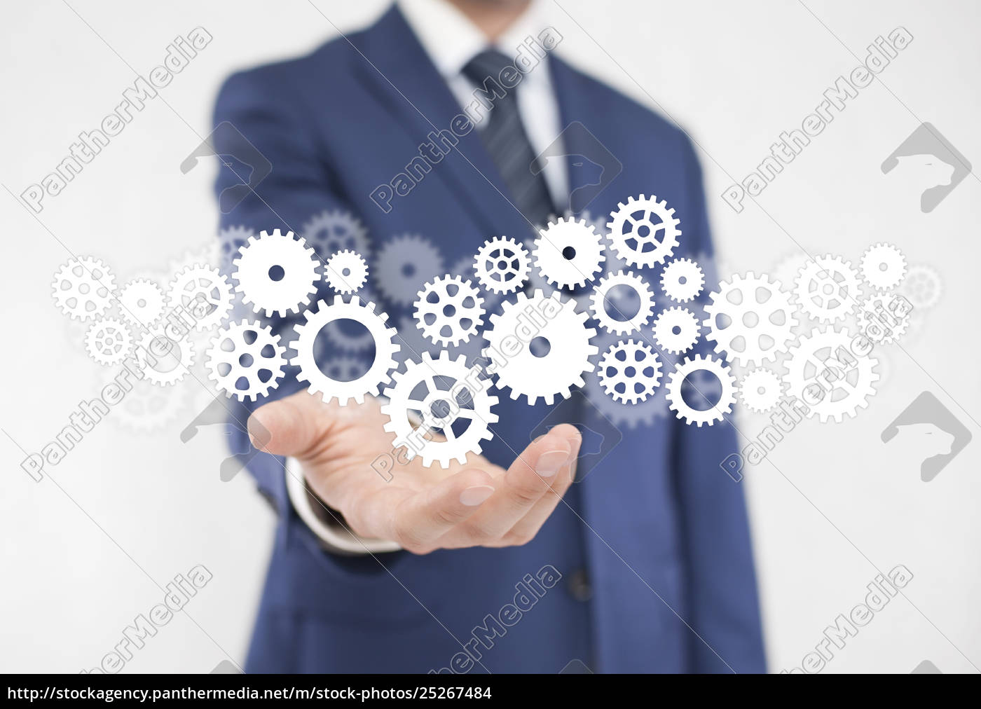 businessman, with, gears, , concept, of, well - 25267484
