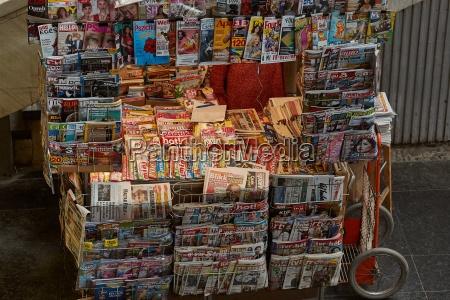 newspaper stand on the street