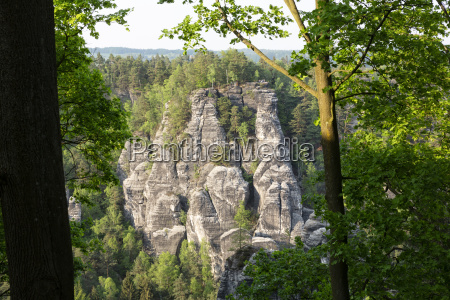 rock formations in the elbe sandstone