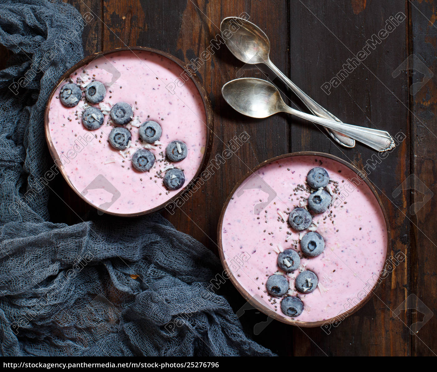 blueberry, smoothie, bowls - 25276796