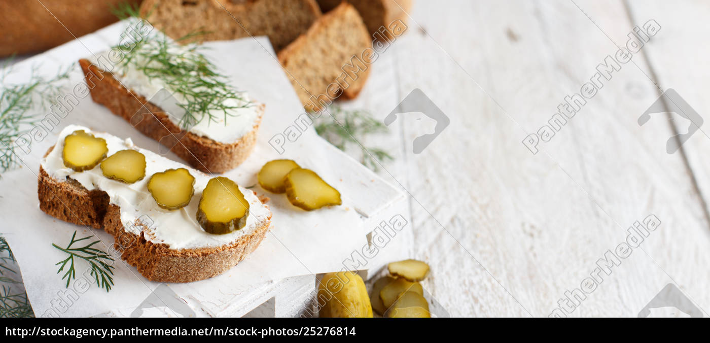 sandwiches, with, cream, cheese, , dill, and - 25276814