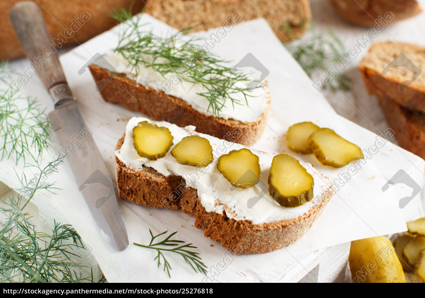 sandwiches, with, cream, cheese, , dill, and - 25276818