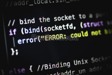 error error bug syntax source code