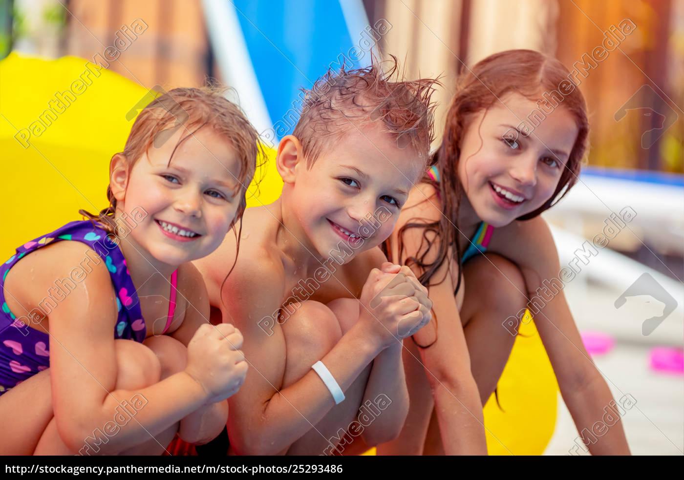 happy, children, in, aqua, park - 25293486