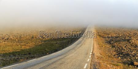 bucolic traffic transportation fog sights emptiness