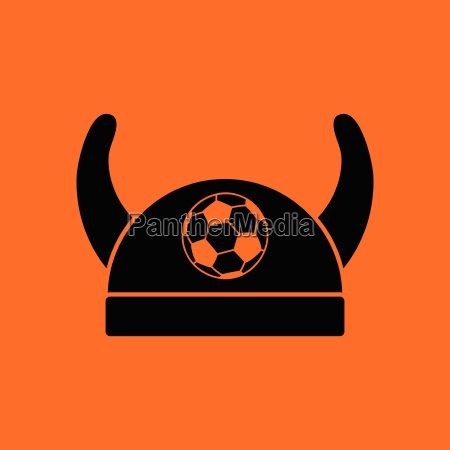 football fans horned hat icon