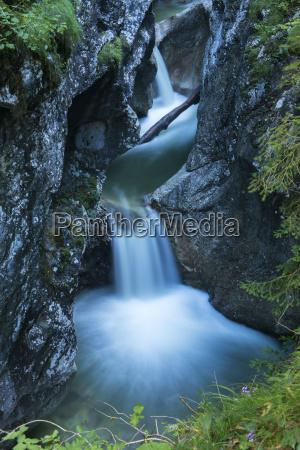 cascade in the garnitzenklamm long exposure