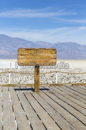 badwater basin sign death valley national