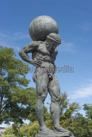 titan statue sculptor nicolai outzen schmidt