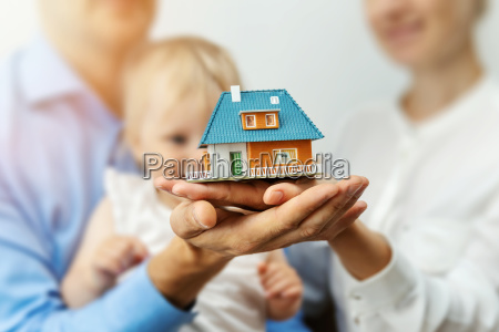 new home concept young family