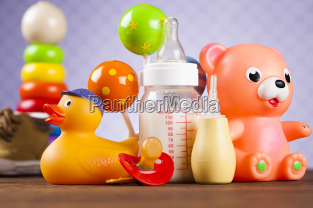 pile, of, toys, , collection, on, wooden - 25313220