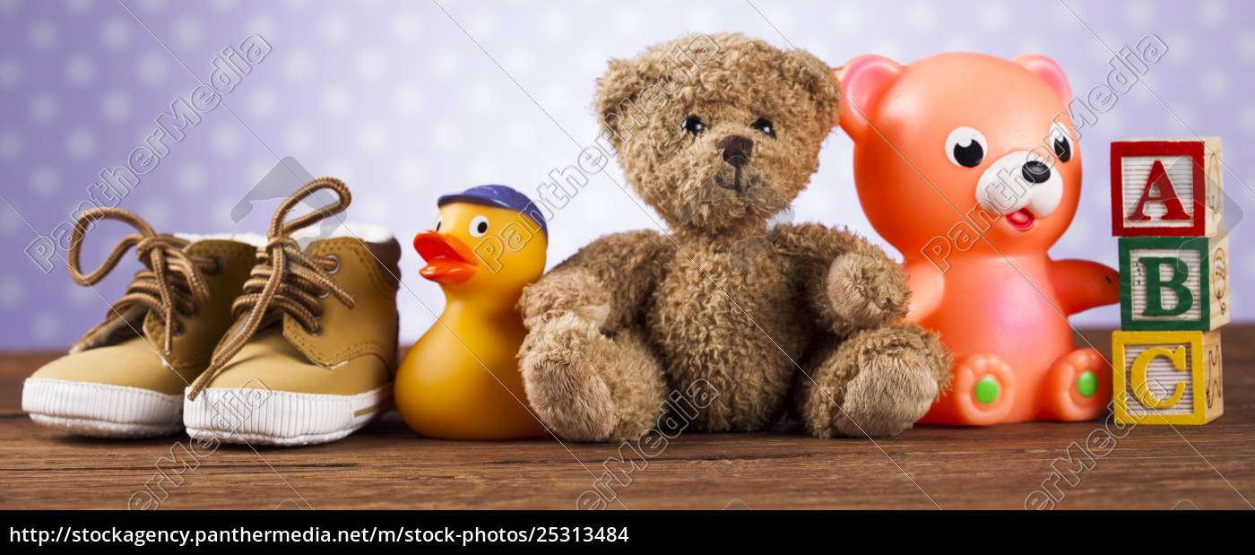 pile, of, toys, , collection, on, wooden - 25313484