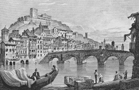 historical city town art bridge europe