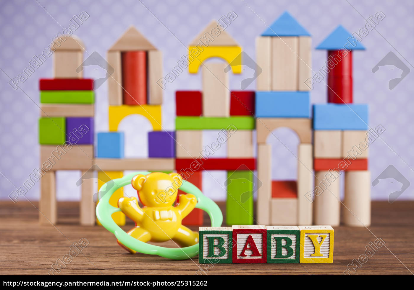 baby, block, , toys, collection, on, colorful - 25315262