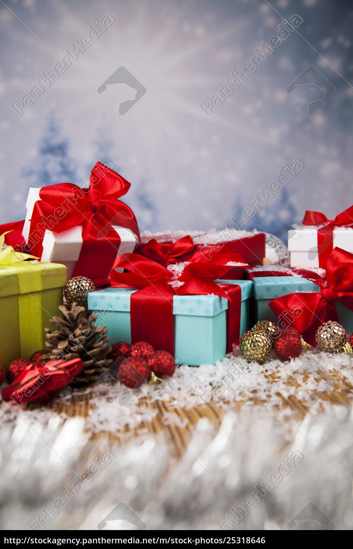 set, of, gift, box, , christmas, background - 25318646