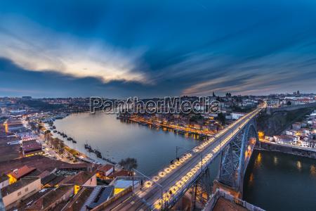 view over porto with ponte dom