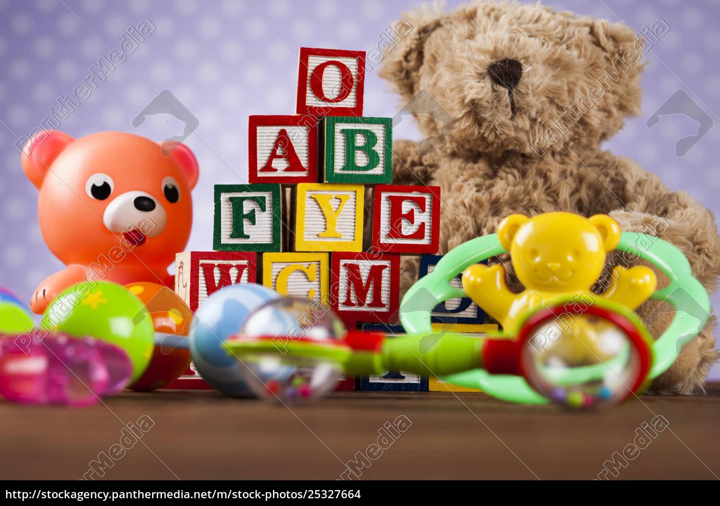 children's, of, toy, accessories, on, wooden - 25327664