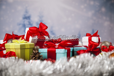 christmastime, celebration, , gift, box, with, red - 25333906