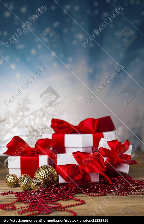 set, of, gift, box, , christmas, background - 25333956