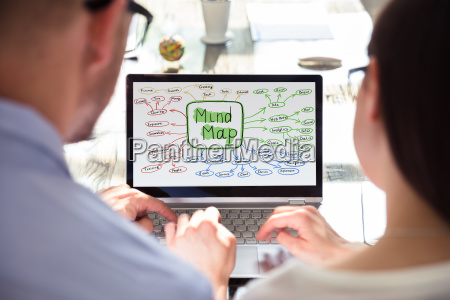 two, businesspeople, making, mind, map - 25333286
