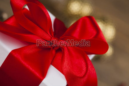 beautiful, gift, box, with, red, ribbon - 25334444