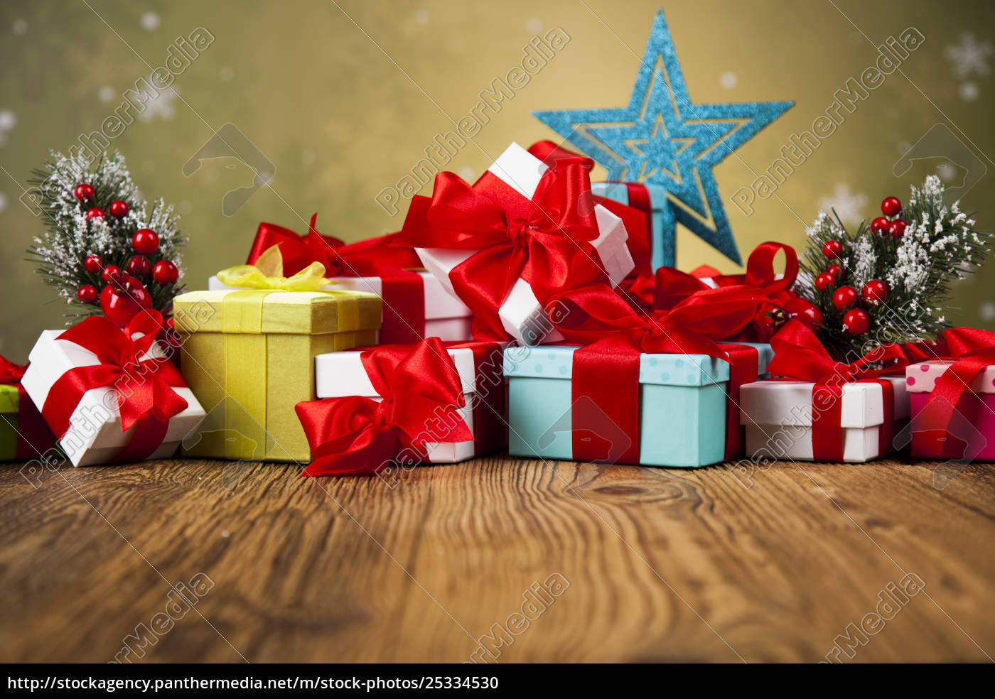 merry, christmas, frame, , gift, box, with - 25334530