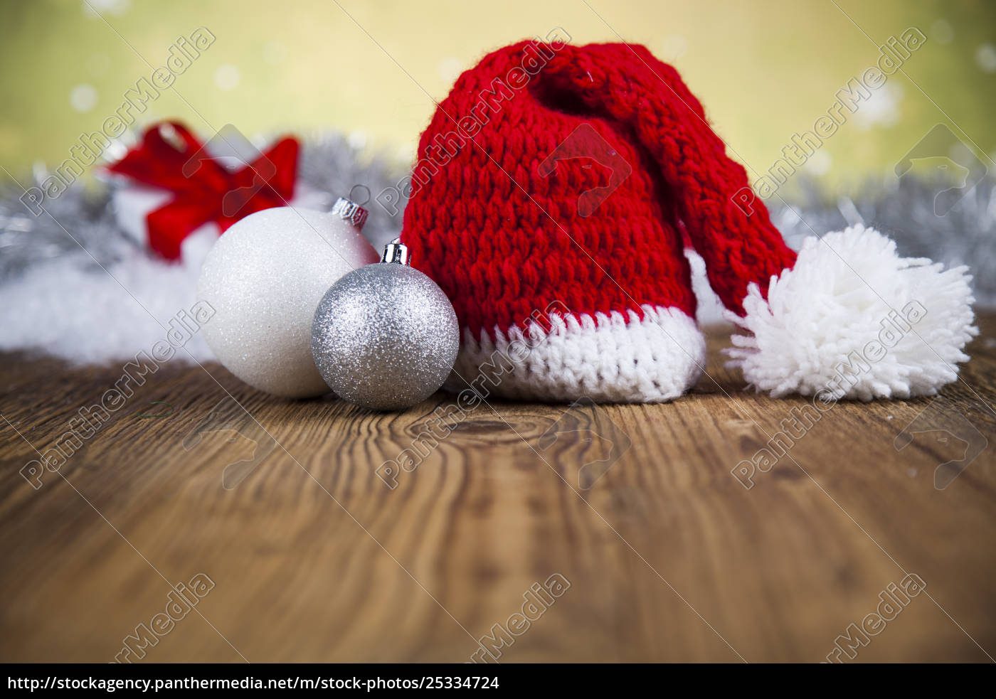 red, santa, hat, , holiday, christmas, background - 25334724