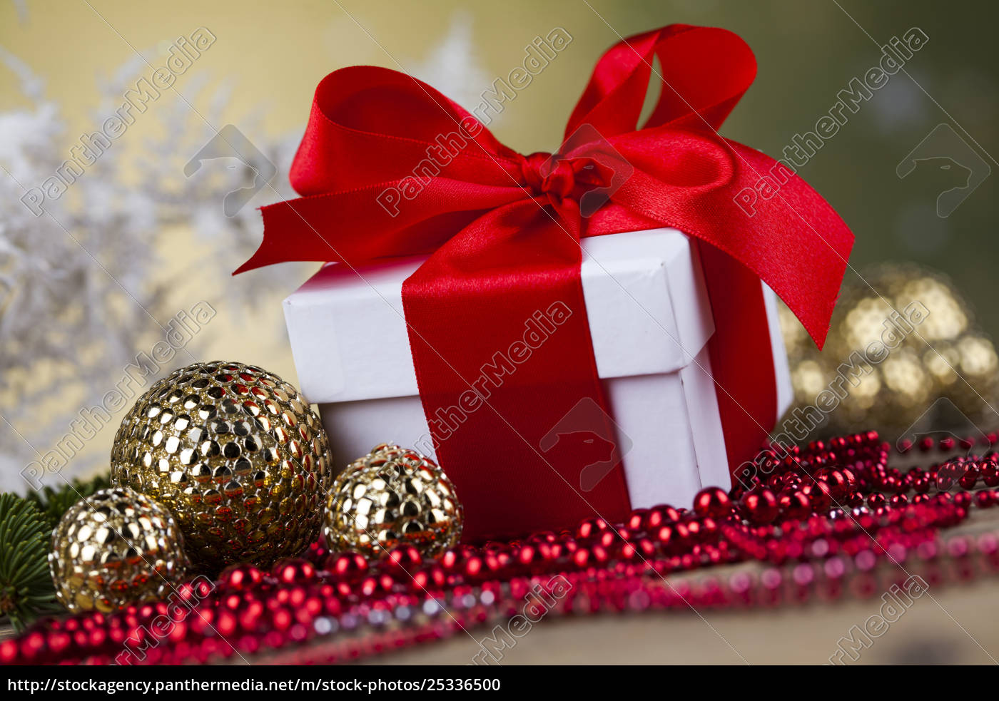 beautiful, gift, box, with, red, ribbon - 25336500