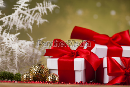 beautiful, gift, box, with, red, ribbon - 25336846