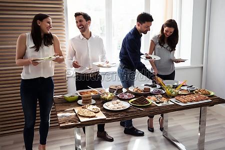 friends, eating, healthy, food - 25336316