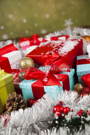 holiday, christmas, background, with, stack, of - 25336432