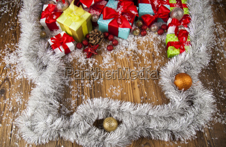 merry, christmas, frame, , gift, box, with - 25336910