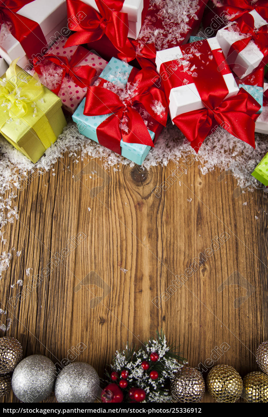 merry, christmas, frame, , gift, box, with - 25336912