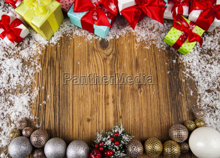 merry, christmas, frame, , gift, box, with - 25336920