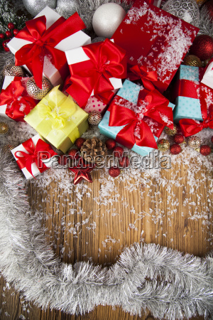 merry, christmas, frame, , gift, box, with - 25336924