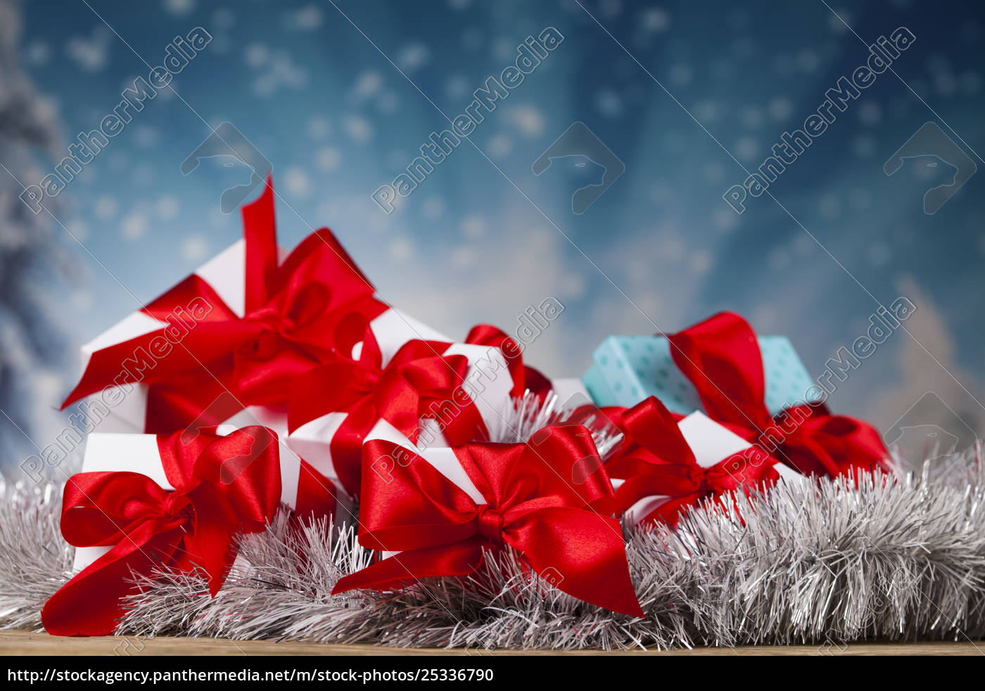 set, of, gift, box, , christmas, background - 25336790