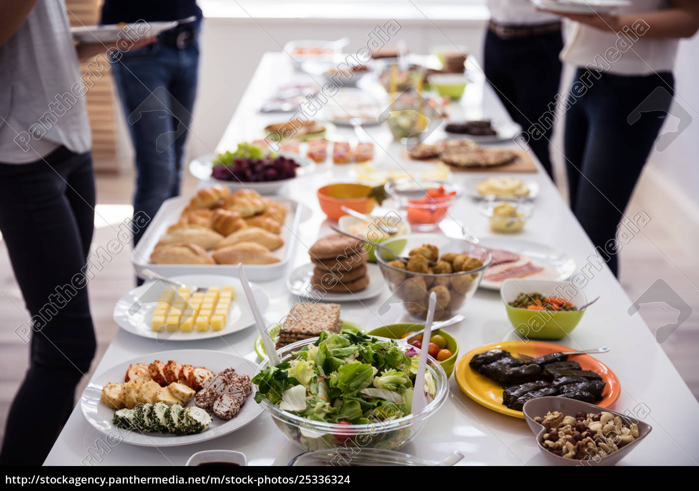 table, filled, with, fresh, food - 25336324