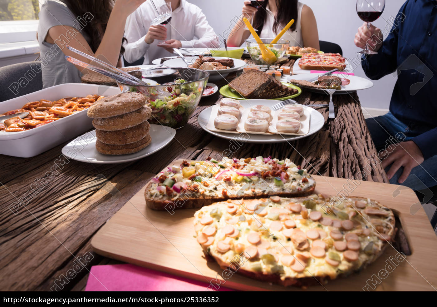 variety, of, fresh, food, on, table - 25336352