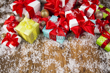 christmastime, celebration, , gift, box, with, red - 25337116