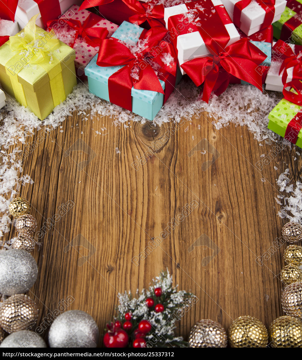 merry, christmas, frame, , gift, box, with - 25337312
