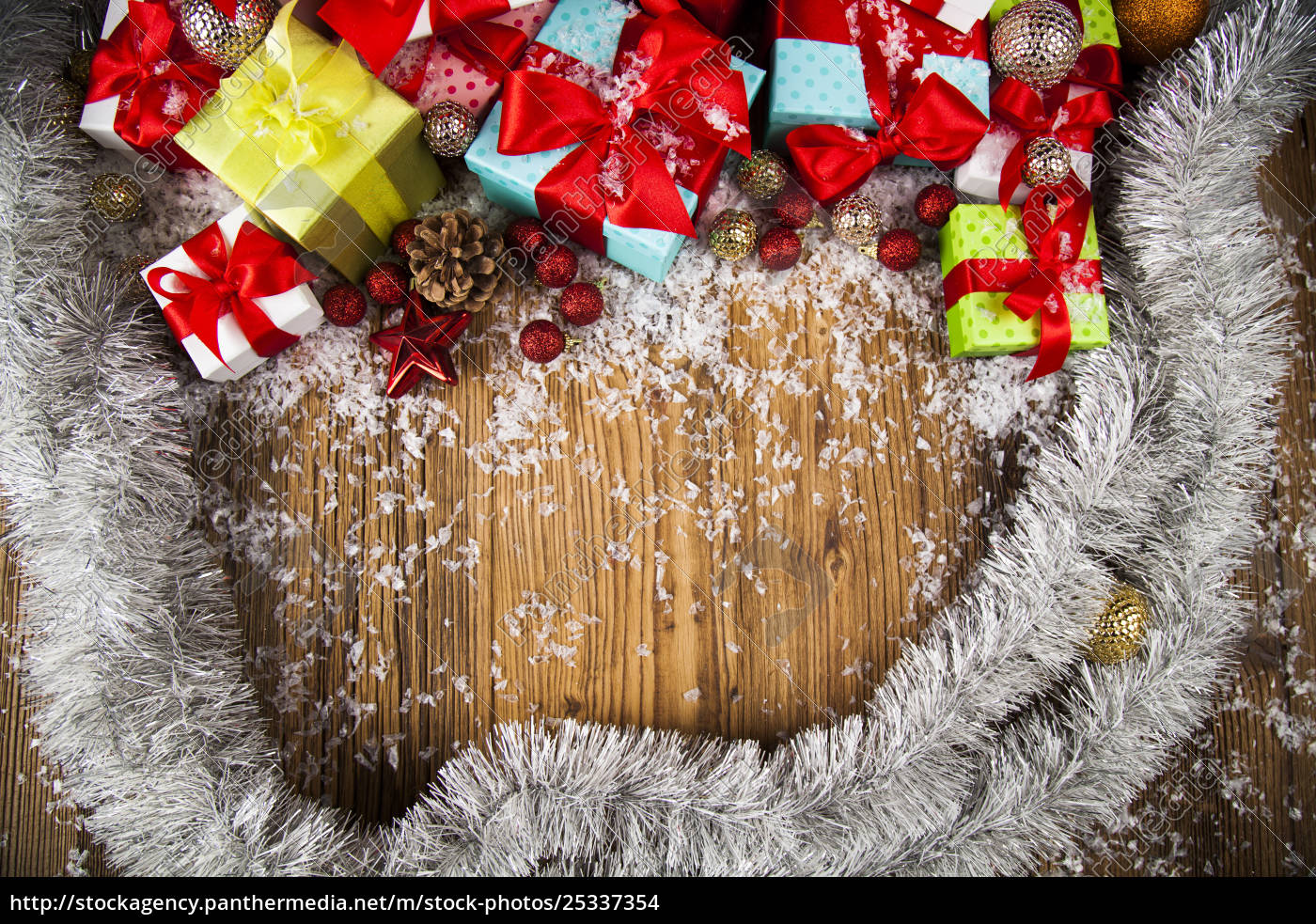merry, christmas, frame, , gift, box, with - 25337354