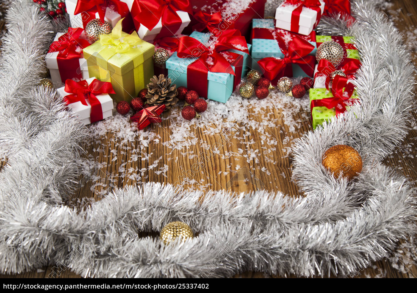 merry, christmas, frame, , gift, box, with - 25337402