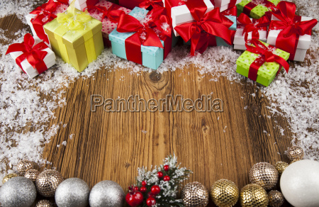 merry, christmas, frame, , gift, box, with - 25337412