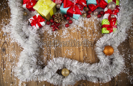 merry, christmas, frame, , gift, box, with - 25337414