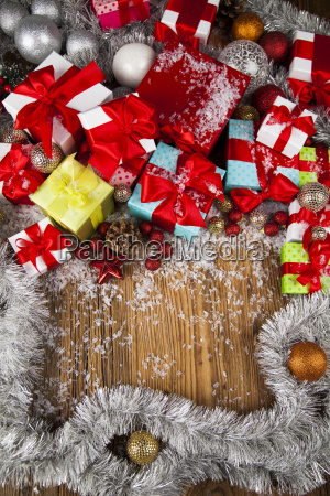 merry, christmas, frame, , gift, box, with - 25337420