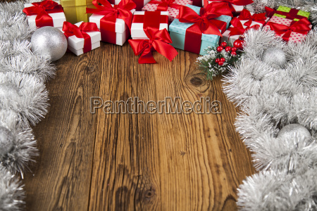 merry, christmas, frame, , gift, box, with - 25337568