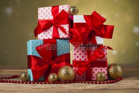 set, of, gift, box, , christmas, background - 25337234