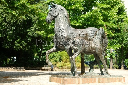 horse statue europe tuscany physiques toscana