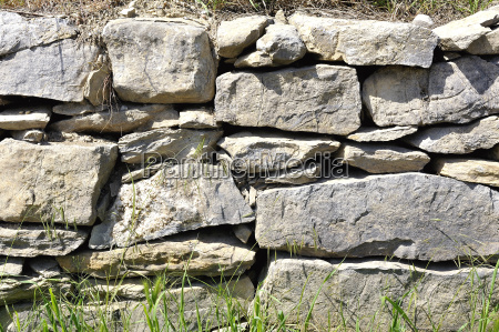 background of stacked and uncemented stone